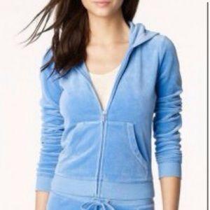 Baby blue juicy contour track suit set